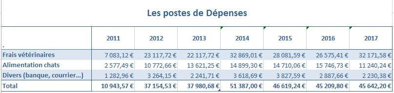 Les postes de depenses a l association 1
